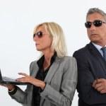 Suspicious business partners — Stock Photo