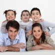 Portrait of a young family — Stock Photo