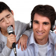 Father and son musical duo — Stock Photo #11881482