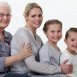 Young and older female foursome — Stock Photo