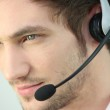 Closeup of a man wearing a headset — Stock Photo #11886281