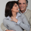A middle age couple hugging. — Stock Photo
