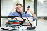 Office worker overworked — Stock Photo