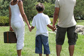 Parents and their son spending time in the park — Stock Photo