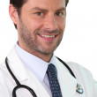 Confident young doctor — Stock Photo