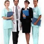 pracownicy szpitala pozowanie razem — Zdjęcie stockowe