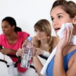 Women working out at gym — Stock Photo #11894240