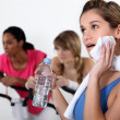 Stock Photo: Women working out at gym