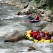 Stock Photo: Rafting down a river