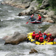 Stock Photo: Rafting down river