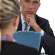 Two businesspeople in interview situation — Stock Photo