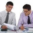 Two accountants at work. — Stock Photo