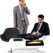 Two businessmen working together. — Stock Photo