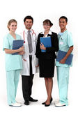 Hospital workers posing together — Stock Photo