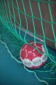 Handball in net — Stock Photo