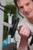 Man lifting a dumbbell — Stock fotografie