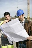 Foreman and his colleague — Stock Photo