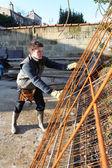Reinforcement for concrete — Stock Photo