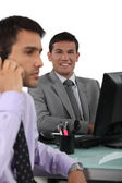 Two businessmen in the office — Stock Photo