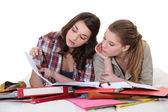 Two female students — Stock Photo