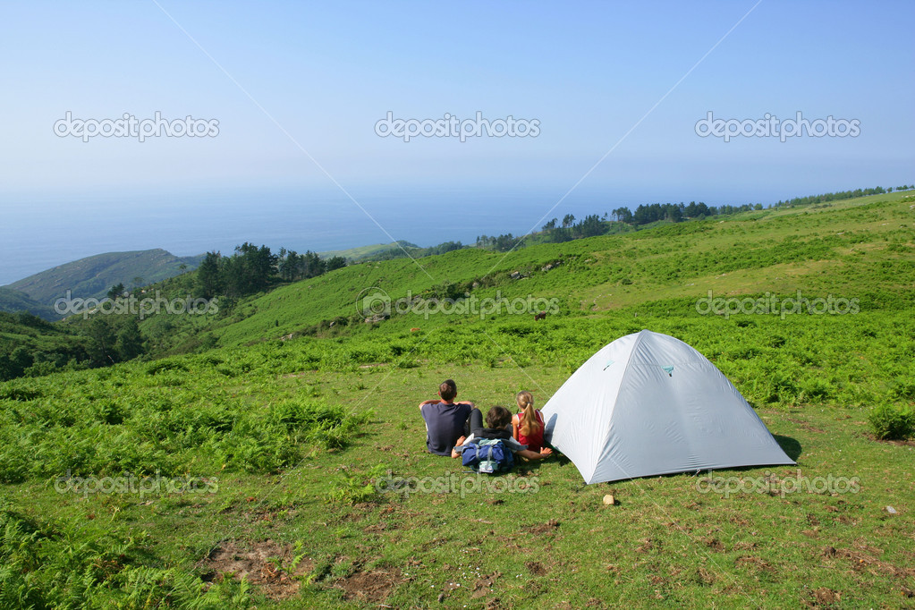 Group of hiker relaxing by their their  Stock Photo #11894356