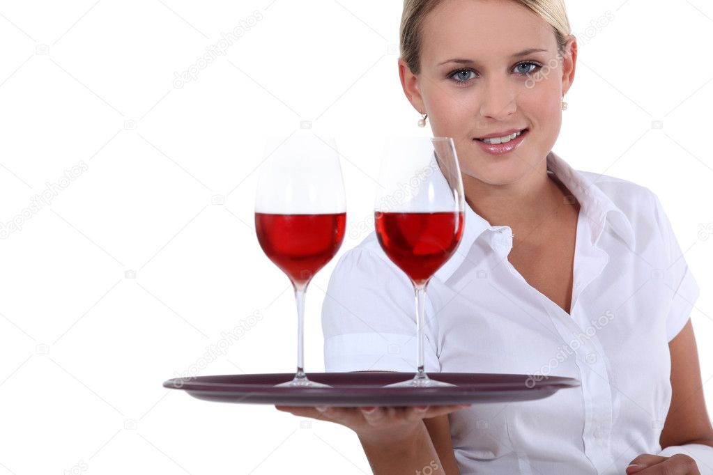 Here is your wine — Stock Photo #11898962