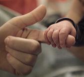 Baby's hand — Stock Photo