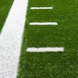 American Football Field Yard Lines - Stock Photo