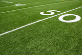 Football Field Yard Lines — Stock Photo