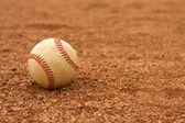 Baseball on the Dirt — Stock Photo