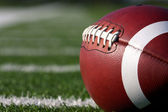 Football Close Up on Field — Foto de Stock