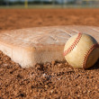 Stock Photo: Baseball near Second Base