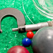 Micrometer with Beads and Balls - Stock Photo