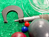 Micrometer with Beads and Balls — Stock Photo