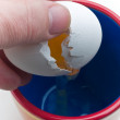 Cracking an Egg — Stock Photo