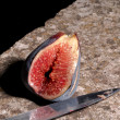Stock Photo: Sliced figs