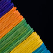 Colored Popsicle Sticks — Stock Photo #12415876