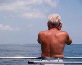 Ederly Male Suntanned Back — Stock Photo