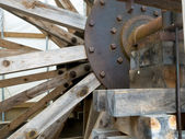 Rusted Waterwheel — Stock Photo