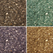 Collage of textures - land, asphalt, pavement, gravel - Stock Photo