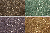 Collage of textures - land, asphalt, pavement, gravel — Stock Photo