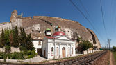Inkerman cave monastery near the railroad. Sevastopol — Stock Photo