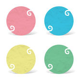 Plasticine circle icon on white background — Stock Photo