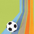 Football soccer on colorful line background — Stok fotoğraf
