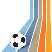 Football soccer on colorful line background — Stock Photo