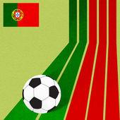 Plastelíny vlajky fotbal na barevné linky pozadí — Stock fotografie