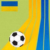 カラフルな模様の背景にプラスチシン旗サッカー サッカー — ストック写真