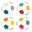 Color football soccer on white background, isolated — Stock Photo