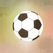 Football soccer on paper background — Stock Photo