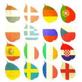 Paper Flag of football soccer on white background — Stock Photo
